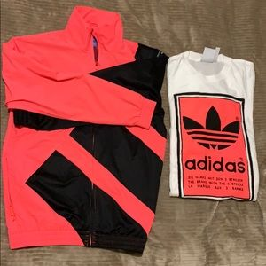 Adidas matching shirt and jacket